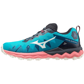 Mizuno Wave Daichi 6 Shoes Women, scuba blue/snow white/tea rose